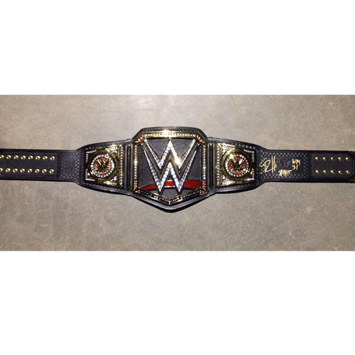 Seth Rollins SIGNED WWE World Heavyweight Championship Replica Title (WrestleMania 31 - 03/29/15)