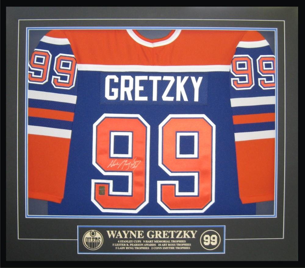 Wayne Gretzky - Signed & Framed Edmonton Oilers Blue Jersey