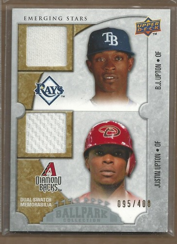 Photo of 2009 Upper Deck Ballpark Collection #130 B.J. Upton/Justin Upton/400