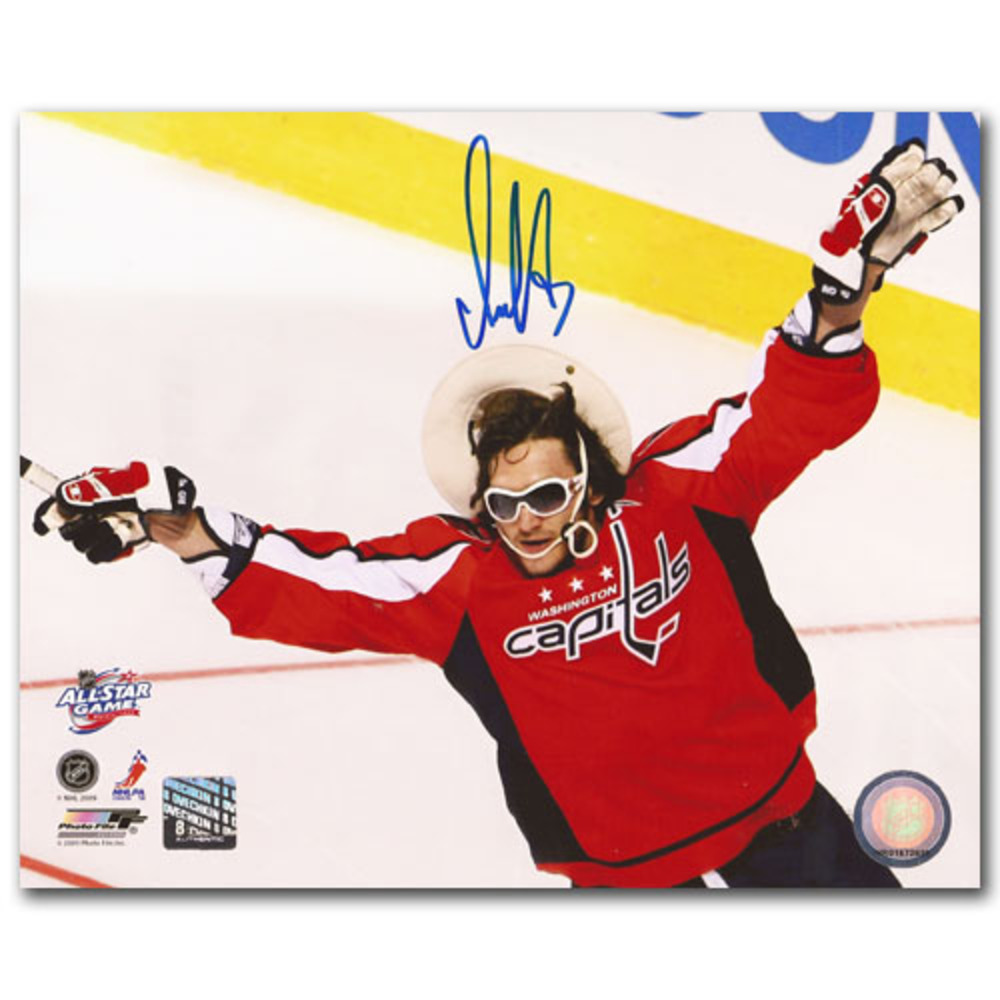 Alexander Ovechkin (Washington Capitals) Autographed 2009 NHL All-Star Game 8X10 Photo