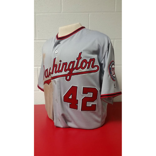 Photo of Game-Used Jersey: Bryce Harper - 2016 #42 Jersey - 4/15/16