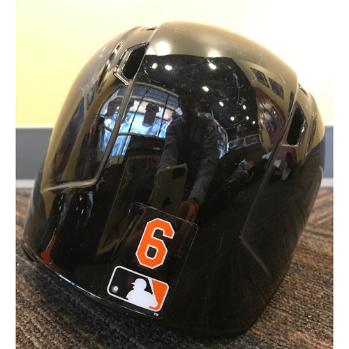 Photo of Jonathan Schoop - 2017 Spring Training Helmet: Game-Used