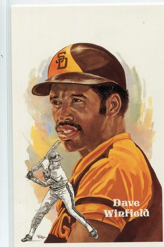 Photo of 1980-02 Perez-Steele Hall of Fame Postcards #253 Dave Winfield -- Set #08689