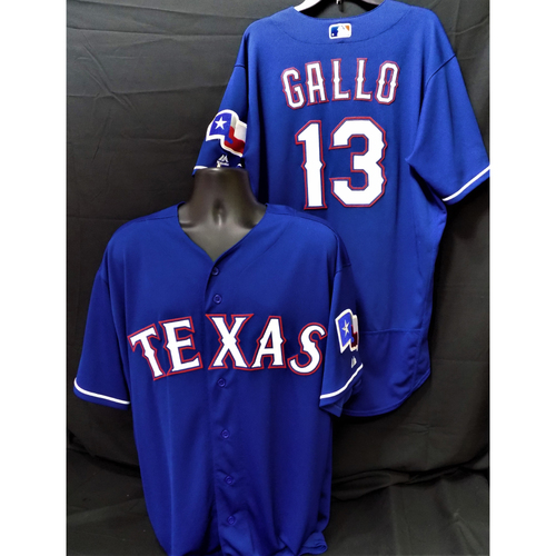 Photo of Joey Gallo Game-Used Home Run (38) Jersey - Traveled 490 feet