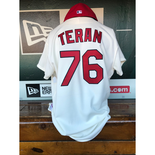 Photo of Cardinals Authentics: Kleininger Teran Game Worn 1967 Jersey and Cap