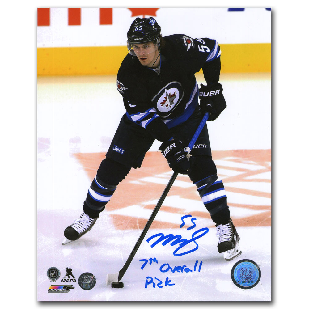 Mark Scheifele Autographed Winnipeg Jets 8X10 Photo w/7TH OVERALL PICK Inscription