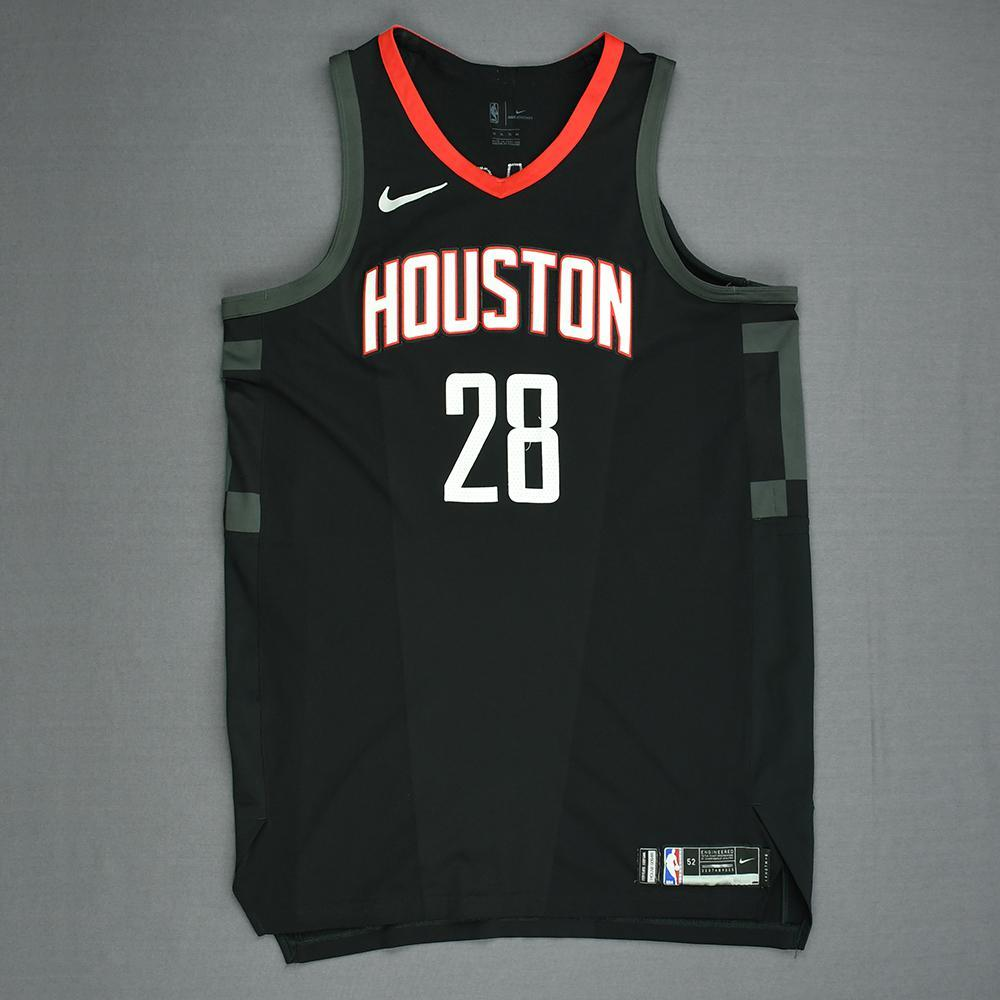 Tarik Black - Houston Rockets - Game-Worn 'Statement' Jersey - 2017-18 Season