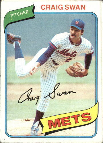 Photo of 1980 Topps #8 Craig Swan