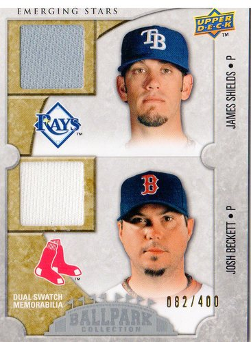 Photo of 2009 Upper Deck Ballpark Collection #133 James Shields/Josh Beckett/400