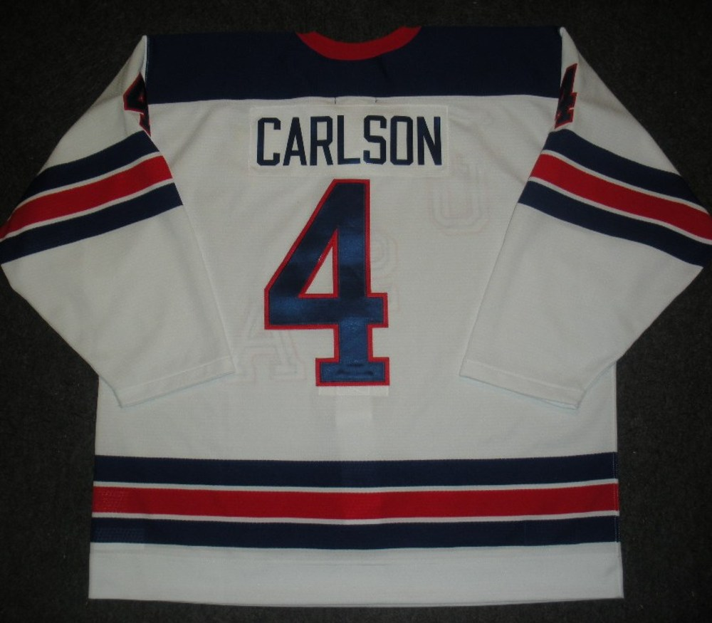 John Carlson - Sochi 2014 - Winter Olympic Games - Team USA Throwback Game-Worn Jersey - Worn in 2nd and 3rd Periods vs. Slovenia, 2/16/14