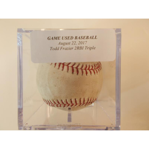 Photo of Game-Used Baseball: Todd Frazier 2 RBI Triple