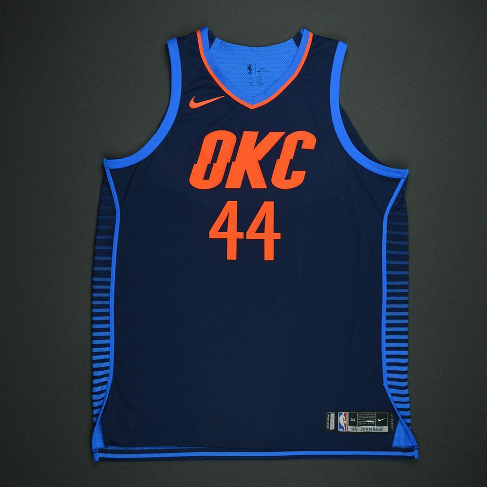 Dakari Johnson - Oklahoma City Thunder - Statement Game-Worn Jersey - Dressed, Did Not Play - 2017-18 Season