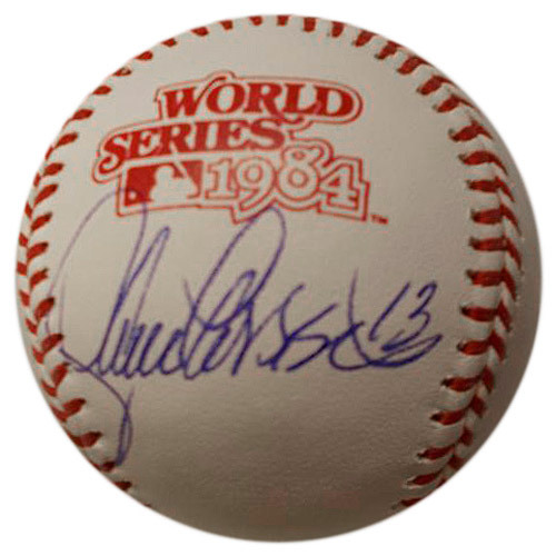 Photo of Detroit Tigers Lance Parrish Autographed 1984 World Series Baseball
