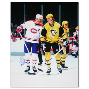Larry Robinson Autographed Montreal Canadiens 16X20 Photo w/Mario Lemieux