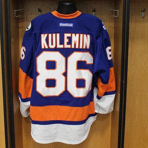 Nikolay Kulemin - Game Worn Home Jersey - 2015-16 Season - New York Islanders