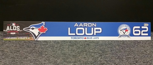 Photo of Authenticated Game Used 2016 ALDS Game 3 Locker Tag - #62 Aaron Loup