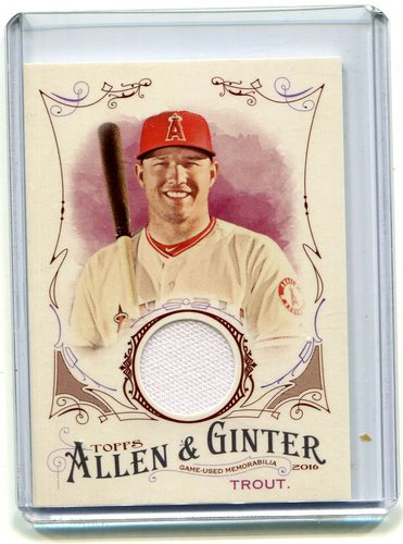 Photo of 2016 Topps Allen and Ginter Relics jersey Mike Trout