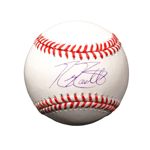 Photo of Mike Moustakas Autographed Baseball