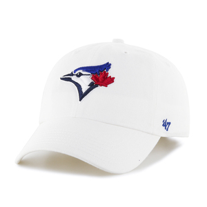 Toronto Blue Jays Clean Up Cap Adjustable Cap White by '47 Brand
