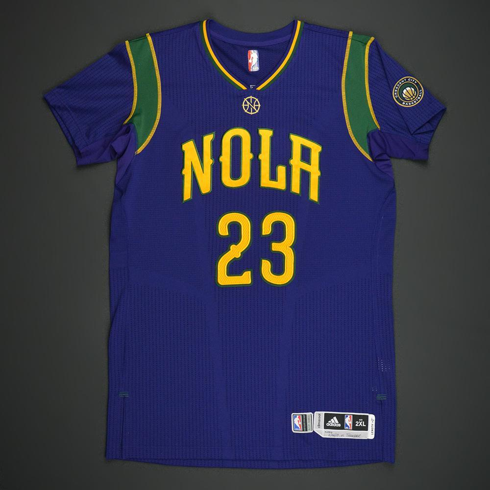 Anthony Davis - New Orleans Pelicans - Purple 'Mardi Gras' Game-Worn Jersey - 2016-17 Season