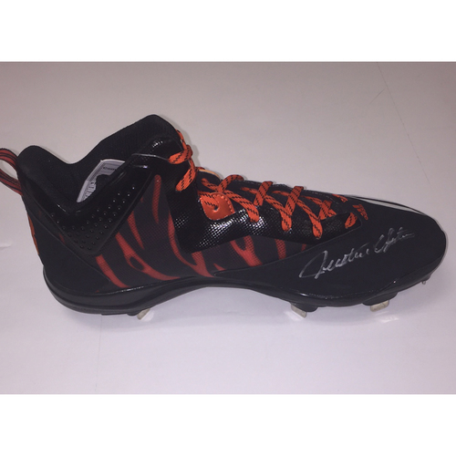 Tigers Striped Autographed Justin Upton Left Game Cleat