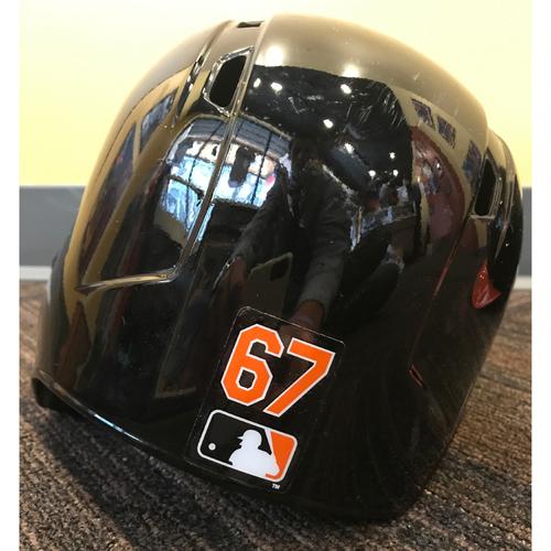 Photo of Trey Mancini - 2017 Spring Training Helmet: Game-Used