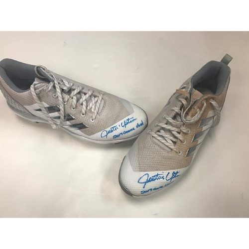 Photo of Autographed Player Collected Justin Upton Cleats