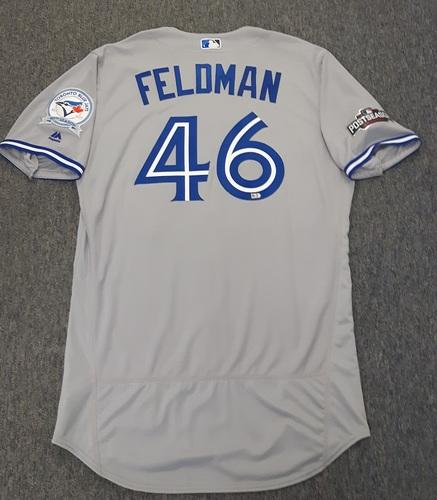 Photo of Authenticated Team Issued 2016 Postseason Jersey - #46 Scott Feldman. Size 48.