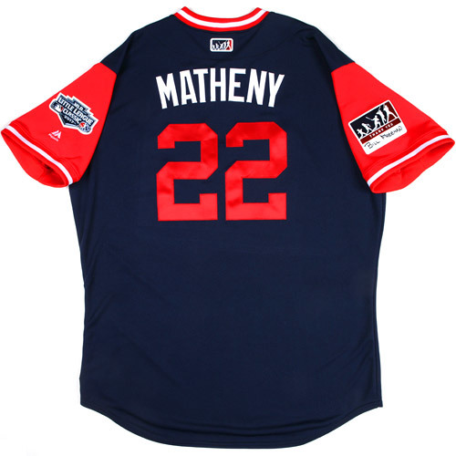 "Photo of St. Louis Cardinals Game-Used Little League Classic Jersey -  Mike ""Matheny"" Matheny #22"
