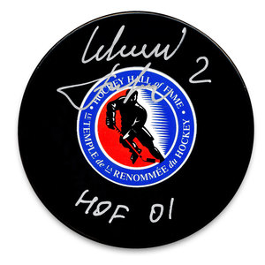 Slava Fetisov Hockey Hall of Fame HOF Autographed Puck