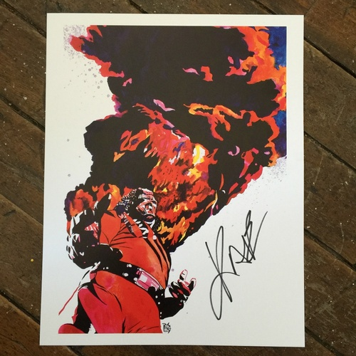 "Photo of Kane SIGNED 11"" x 14"" Rob Schamberger Print"