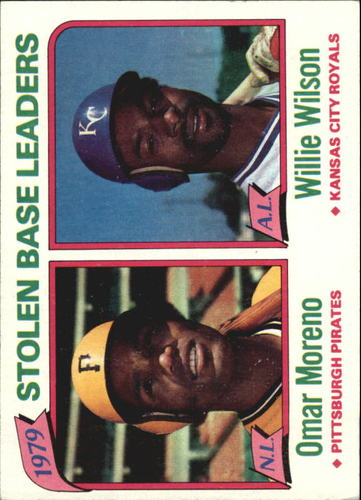 Photo of 1980 Topps #204 Stolen Base Leaders/Omar Moreno/Willie Wilson