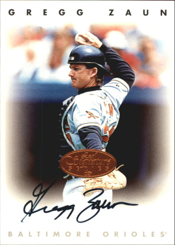 Photo of 1996 Leaf Signature Autographs #252 Greg Zaun