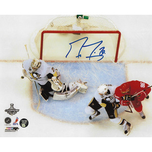 Marc-Andre Fleury Autographed Pittsburgh Penguins 8X10 Photo w/LAST SECOND SAVE Inscription
