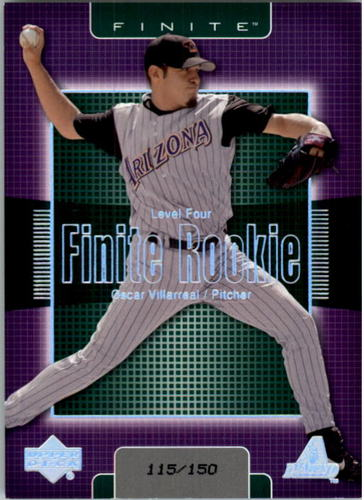 Photo of 2003 Upper Deck Finite #378 Oscar Villarreal T4 RC