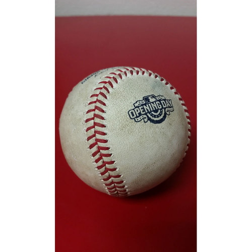Photo of Game-Used Baseball: Opening Day - Stephen Strasburg Strikeout