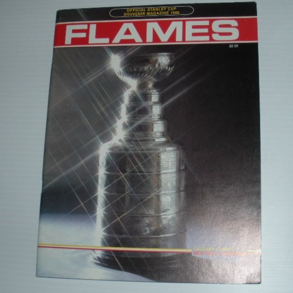 1986 Stanley Cup Finals Program - Game Five, Saturday, May 24, 1986, Montreal Canadiens vs. Calgary Flames at the Saddledome