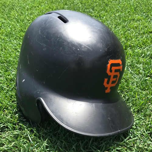 Photo of San Francisco Giants - Game-Used Postseason Helmet - WC & NLDS - Angel Pagan