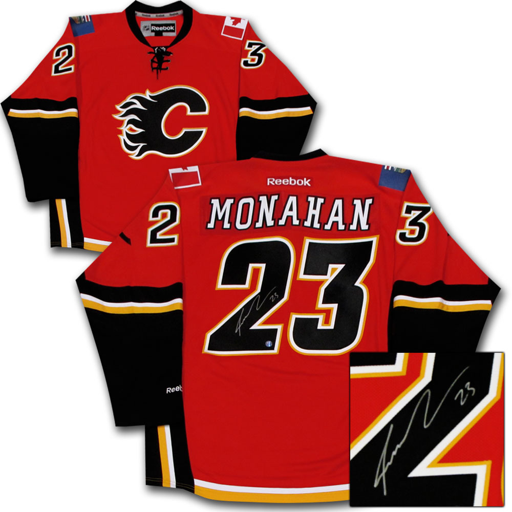 Sean Monahan Autographed Calgary Flames Jersey