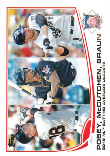 Photo of 2013 Topps #189 Buster Posey/Andrew McCutchen/Ryan Braun