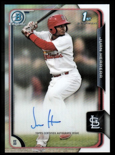 Photo of 2015 Bowman Chrome Prospect Autographs Refractors #BCAPJH Juan Herrera