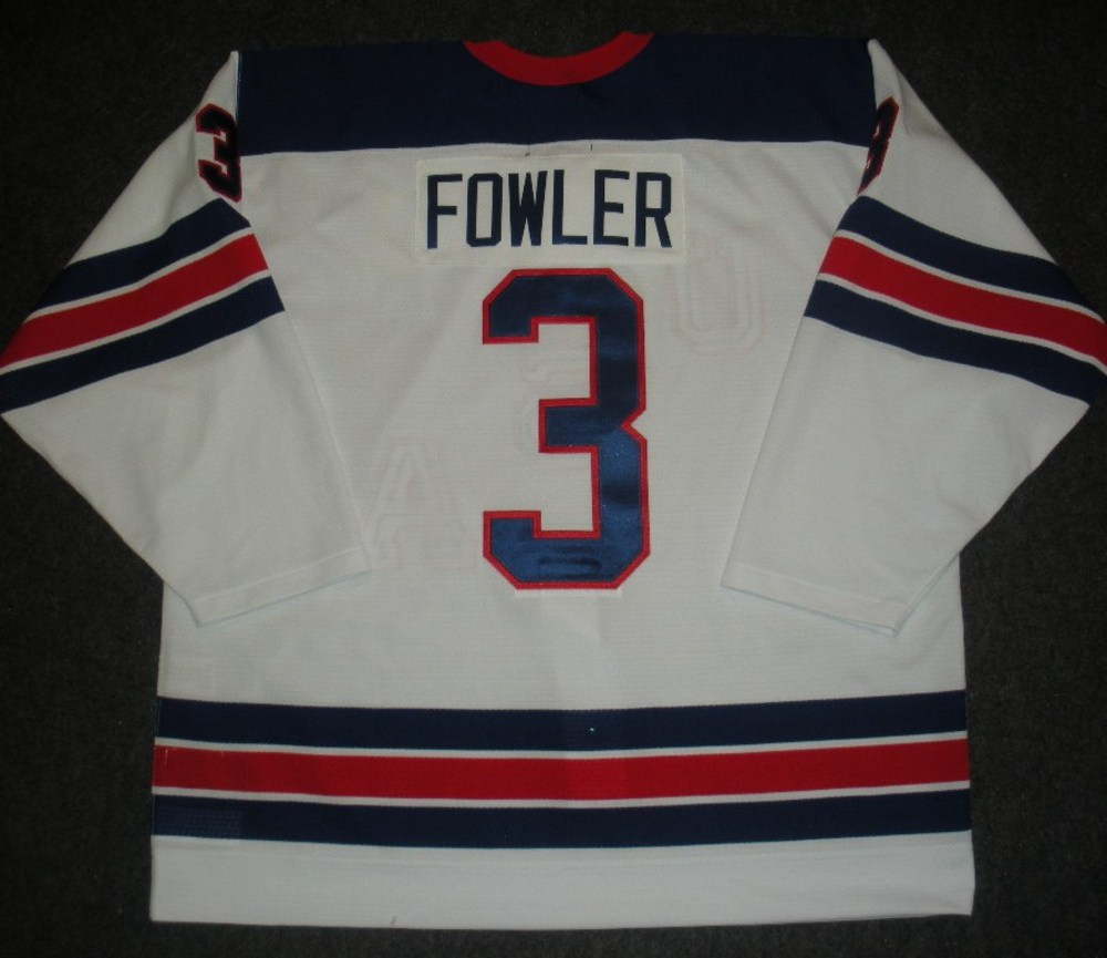 Cam Fowler - Sochi 2014 - Winter Olympic Games - Team USA Throwback Game-Worn Jersey - Worn in 2nd and 3rd Periods vs. Slovenia, 2/16/14