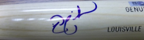 Photo of Nick Swisher Autographed Louisville Slugger Bat
