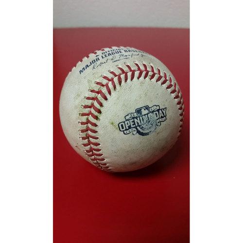 Photo of Game-Used Baseball: Opening Day - Matt Wieters Single
