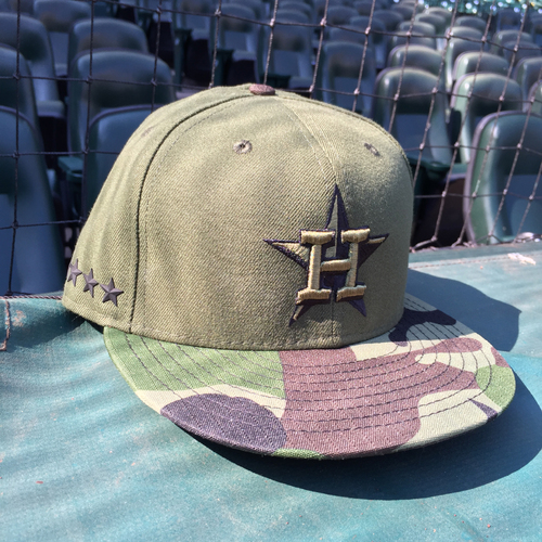 Photo of Game-Used Alex Bregman Memorial Day Cap