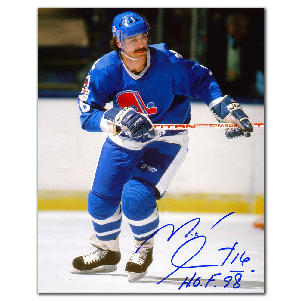 Michel Goulet Quebec Nordiques HOF Autographed 8x10