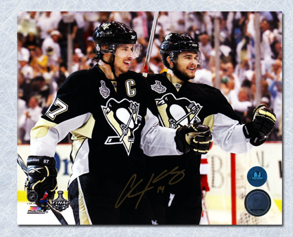 Chris Kunitz Pittsburgh Penguins Autographed Cup Finals W/ Crosby 8x10 Photo