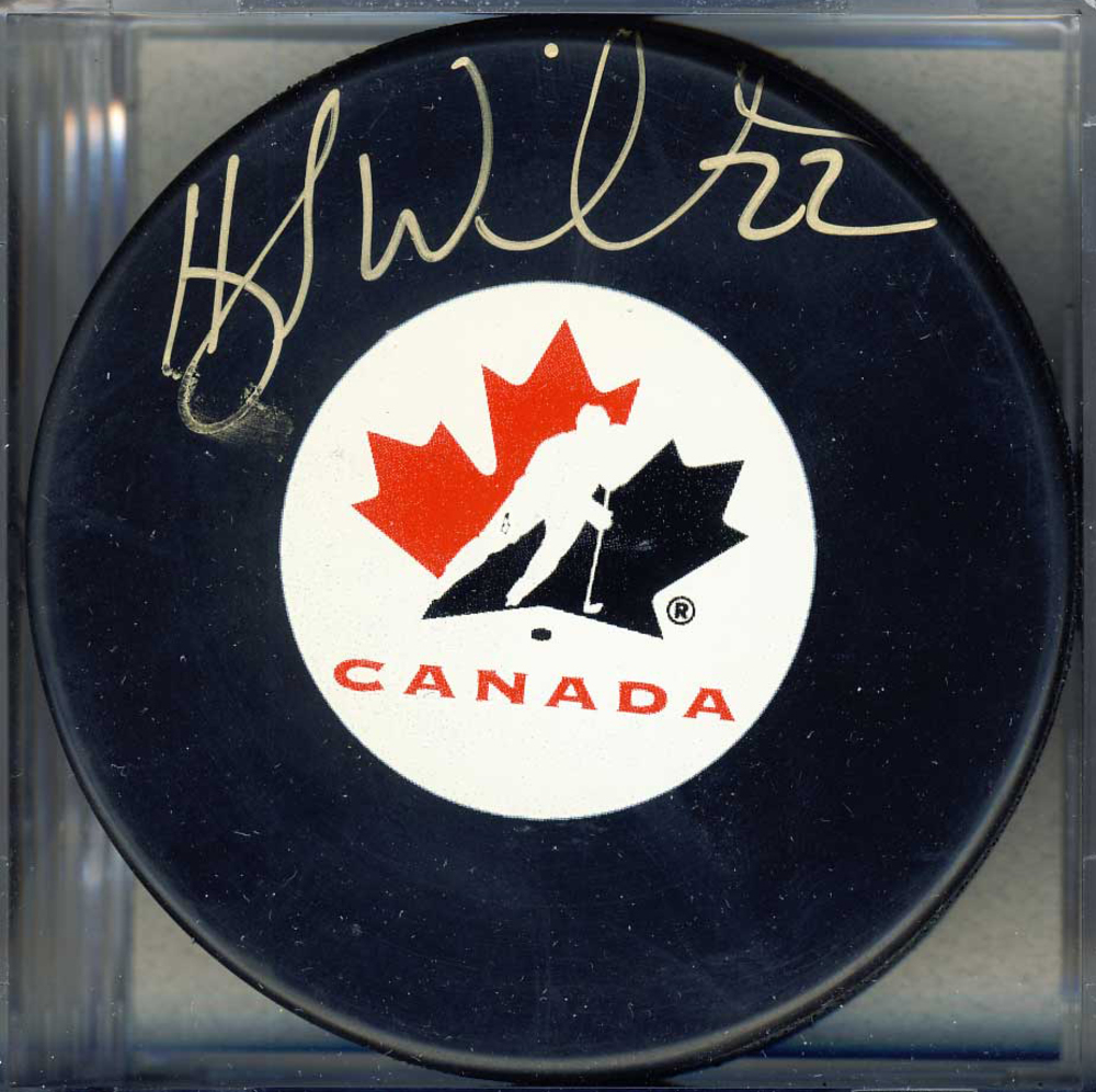 Hayley Wickenheiser Team Canada Autographed Olympic Hockey Puck *Autograph Slightly Smudged*