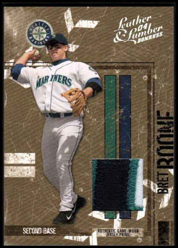 Photo of 2004 Leather and Lumber Materials Jersey Prime #128 Bret Boone/25