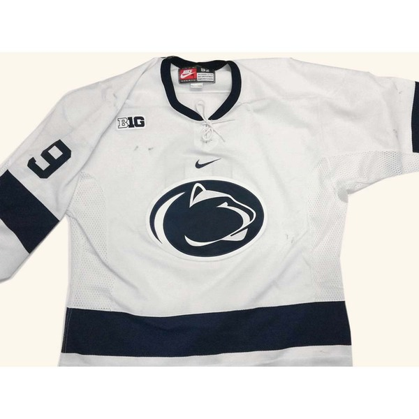 Penn State Game-Used Men's Ice Hockey Jersey (white, #9, size 52)